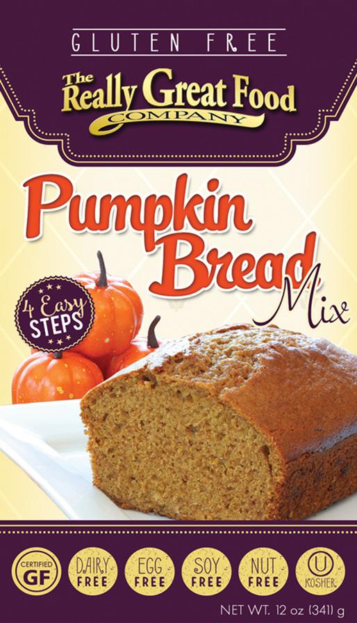 Gluten Free Pumpkin Bread Mix
