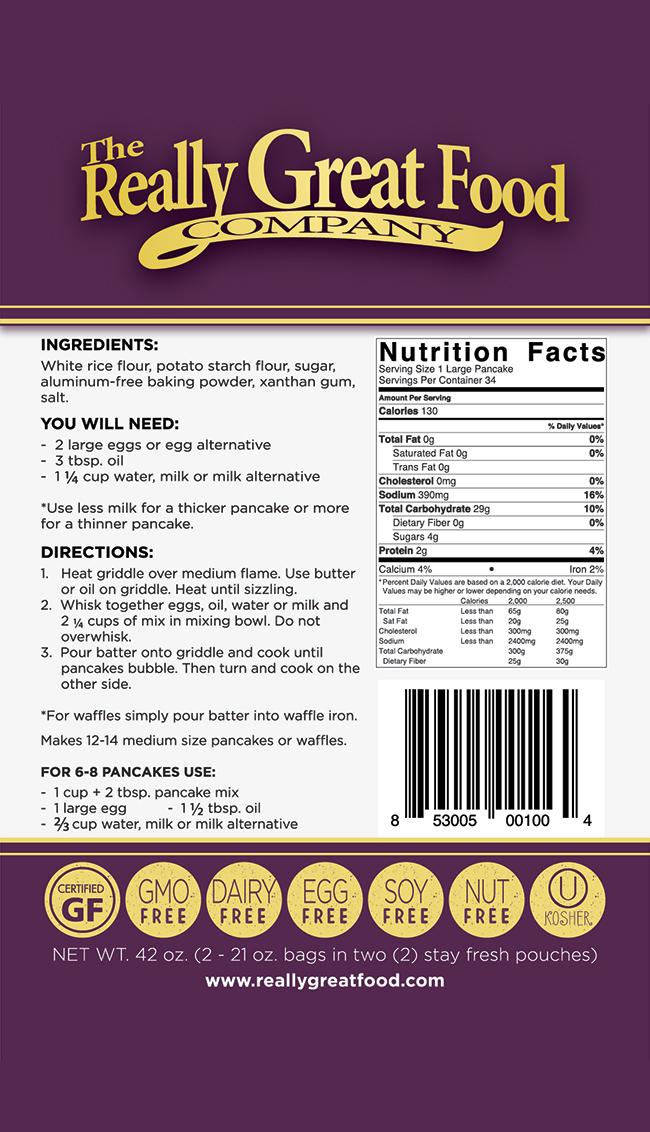 Gluten Free Pancake & Waffle Mix - Jumbo