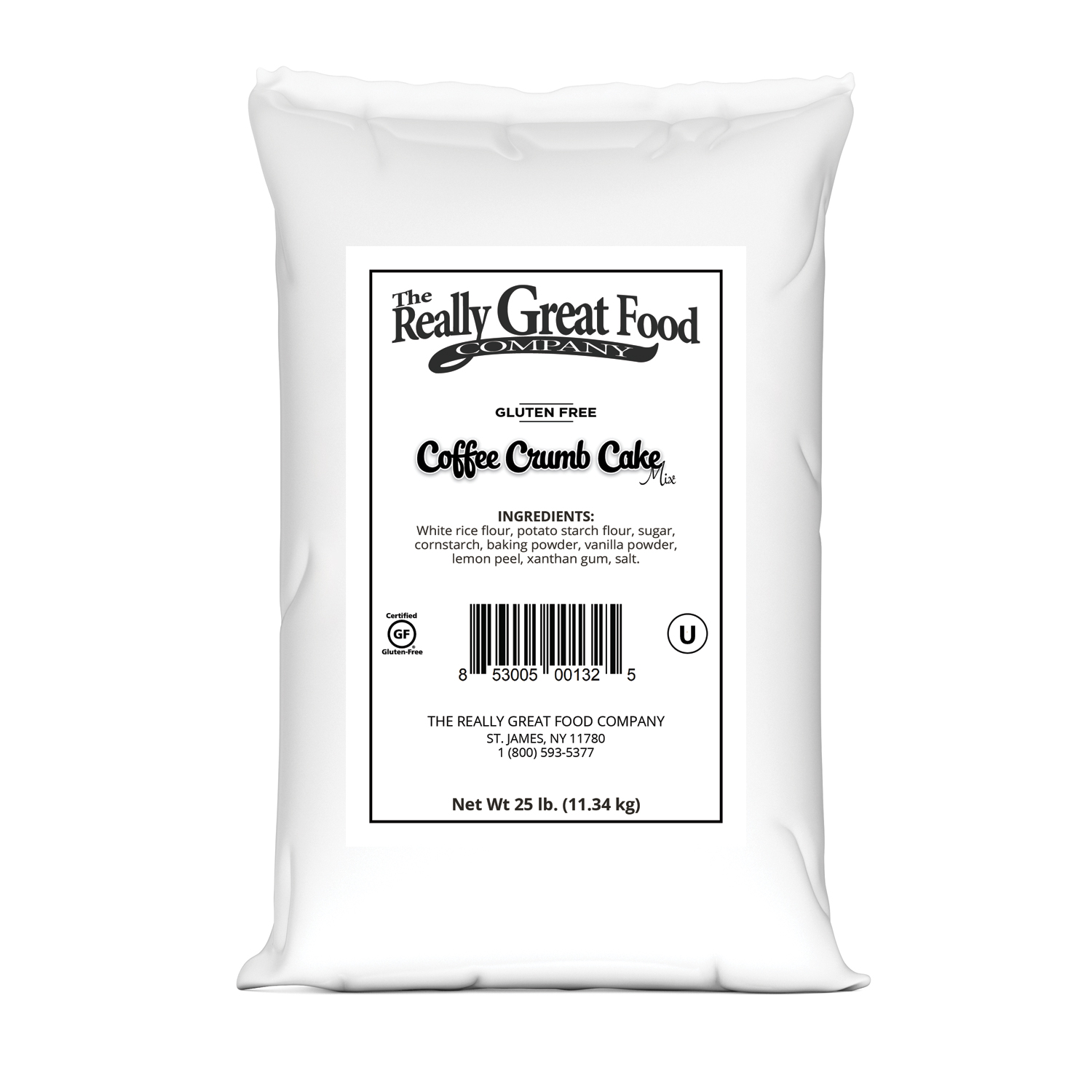 Gluten Free Coffee Cake Mix - 25 lb Bag