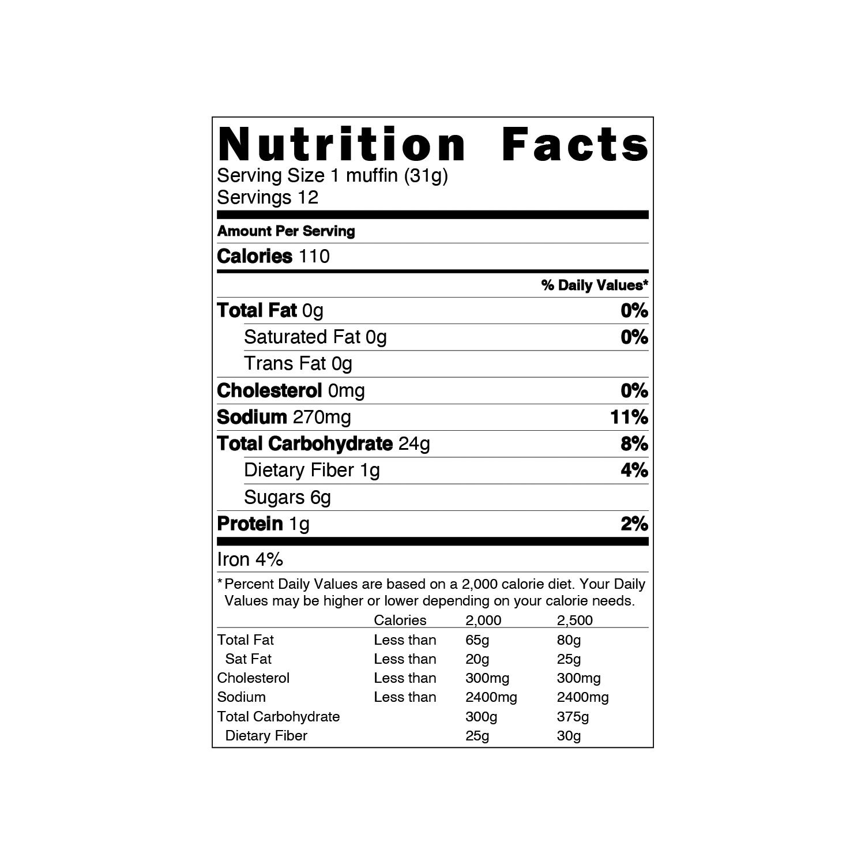 Gluten-Free Cornbread Muffin Mix - 25 lb Bag