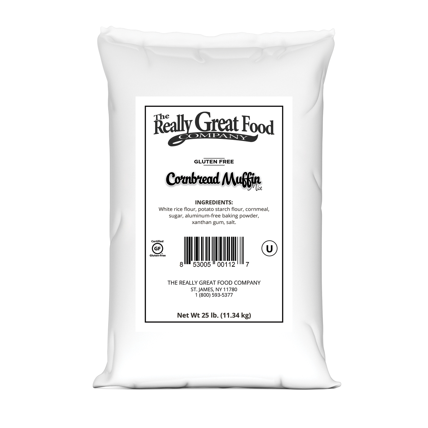 Gluten Free Cornbread Muffin Mix - 25 lb Bag